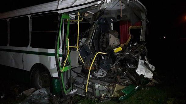 В результате ДТП водитель автобуса погиб