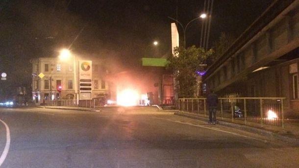 ДТП произошло на углу улиц Приморской и Военного спуска