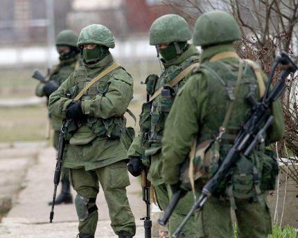 Российские военные без опознавательных знаков