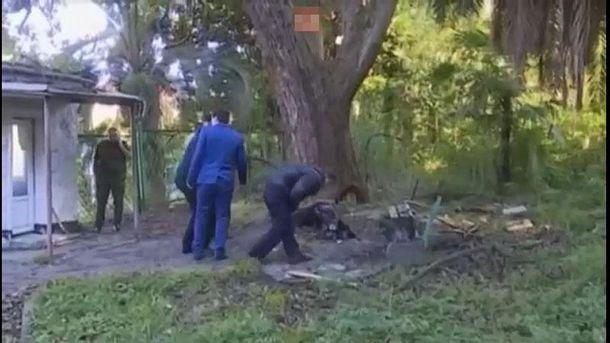 Місце вибуху в Абхазії