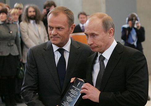 Дональд Туск и Владимир Путин