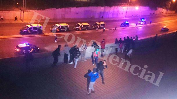 Біженці побили поліцейських