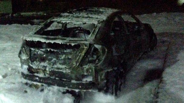 ВКиеве неизвестные сожгли авто супруги главы города Глухова Елены Ескиной