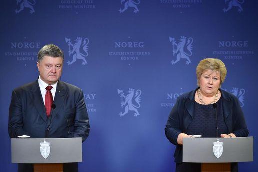 Петр Порошенко и премьер Норвегии Эрна Солберг
