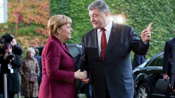 Петр Порошенко, Ангела Меркель