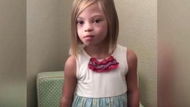 Украинская девочка ссиндромом Дауна покорила американцев