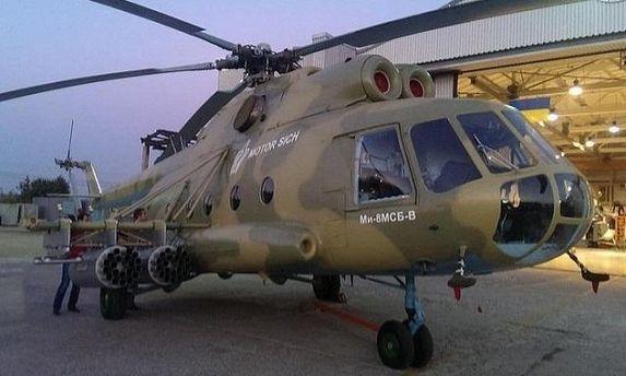 Грозный МИ-8МСБ-В в степях Николаевщины