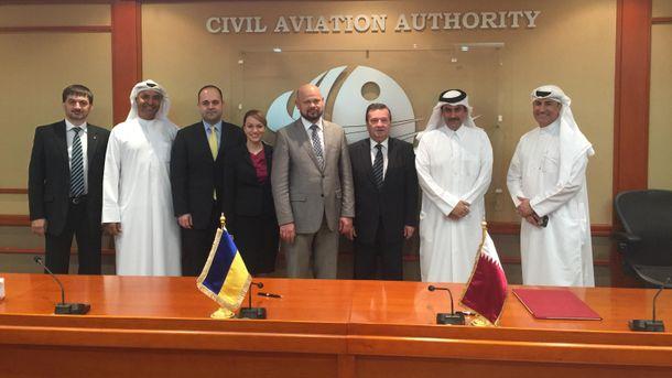 Украина иКатар подписали меморандум осотрудничестве вавиасфере