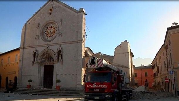 Всети размещено видео последствий крупного землетрясения вИталии