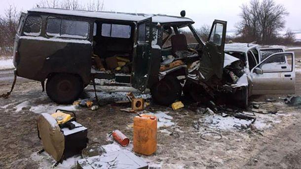 Лобовое столкновение 2-х авто, есть пострадавшие