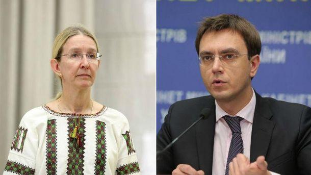 Министры Супрун иОмелян отказываются отвыбранных госсекретарей