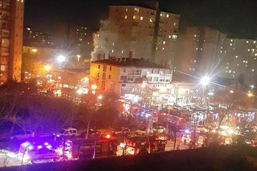 Первопричиной взрыва уторгового центра вСтамбуле мог стать газовый баллон