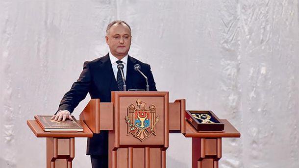 Игорь Додон вступил вдолжность президента Молдавии