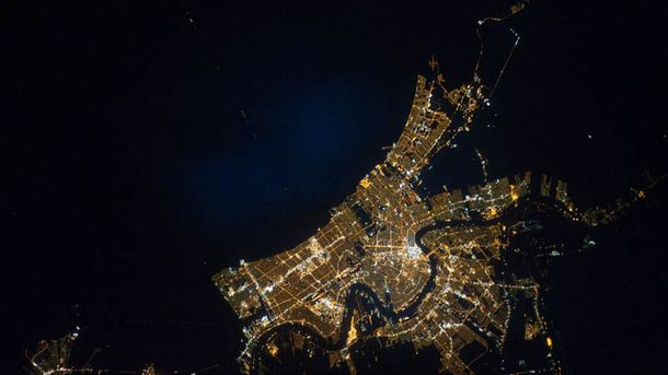 NASA продемонстрировал ночной вид Западной Европы изкосмоса