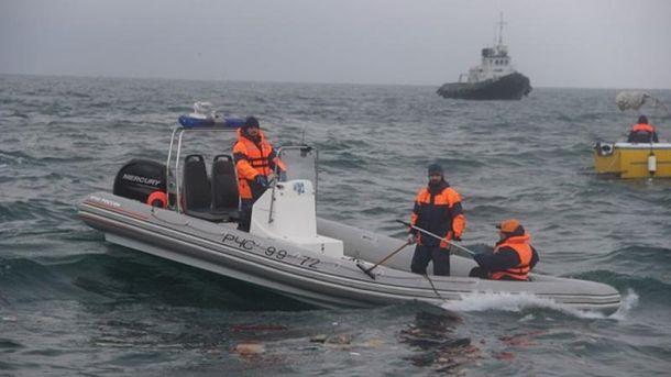 Поисковая операция наместе крушения Ту-154 шла всю ночь