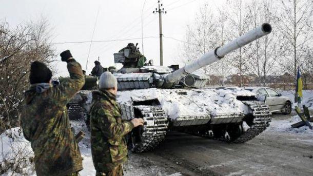 Всамом начале суток террористы 38 раз обстреляли позиции сил АТО,— штаб