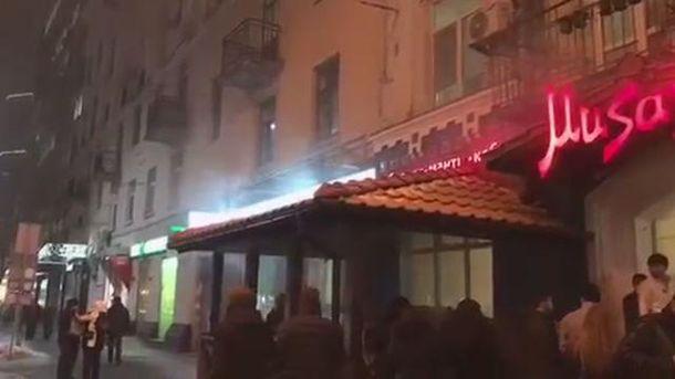 ВКиеве загорелось крымскотатарское кафе