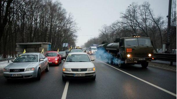 Блокада Киева, шумиха вокруг