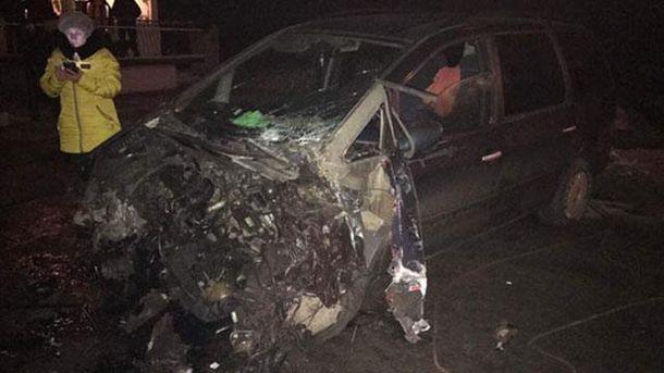 Интерсити сбил авто наЛьвовщине