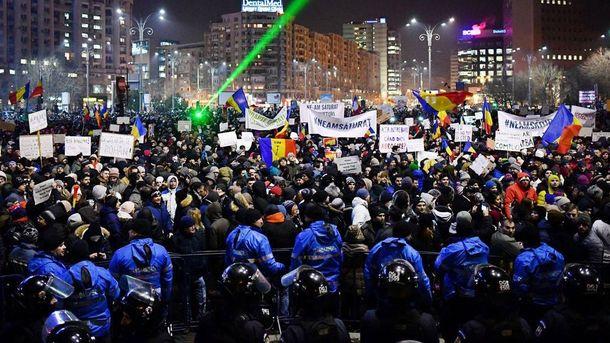ВРумынии министр подал вотставку наволне антиправительственных протестов