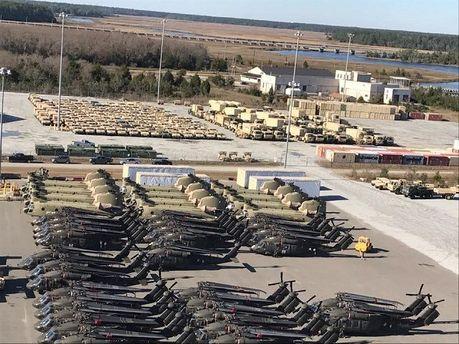 Наавиабазы вЛитве, Польше иРумынии везут военную технику изсоедененных штатов
