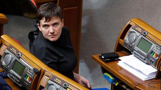 Интересное фото с Савченко в Донецке