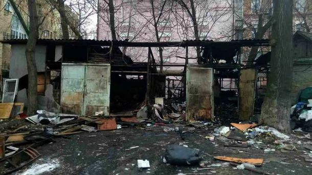 Кошмарный пожар вКиеве: живьем сгорели два бомжа