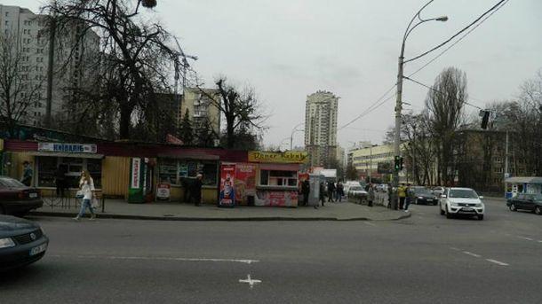 ВСоломенском районе столицы Украины около рынка произошла стрельба