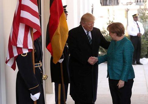 Меркель в гостях у Трампа