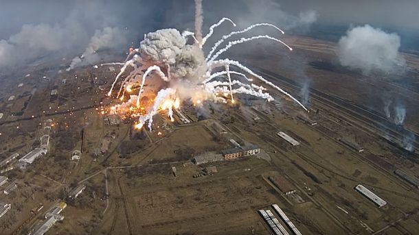 Взрыв ипожар наскладе боеприпасов— Балаклея