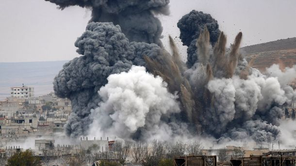 ВСирии втюрьму угодила авиабомба