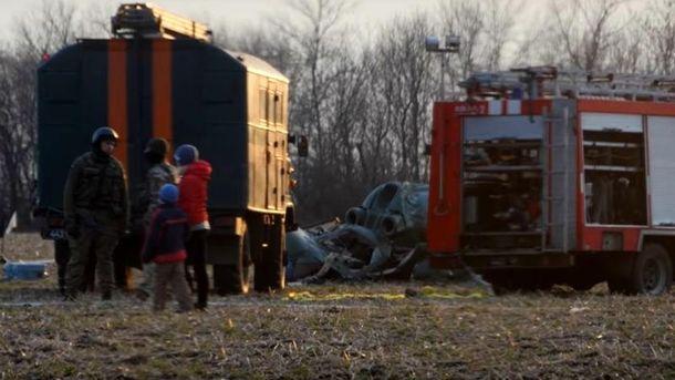 В итоге падения вертолета близ Краматорска погибли 5 украинских офицеров