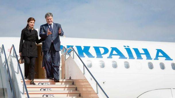Наперелеты Порошенко истратят 35,4 млн грн