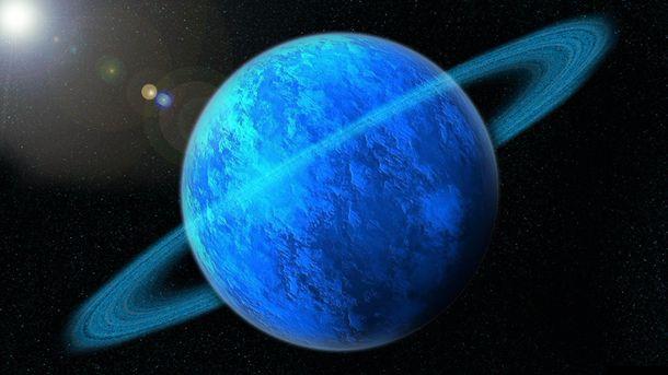 Хаббл снова отметил полярное сияние наУране