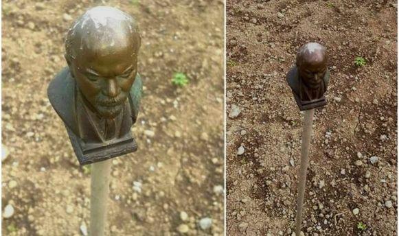 Бюст Леніна тепер відлякує птахів на Закарпатті