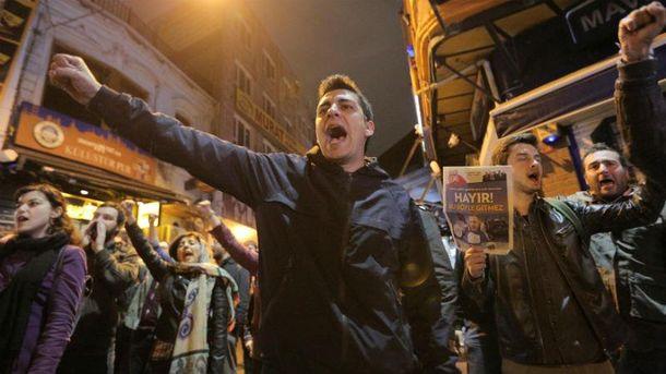 Митинги в Турции