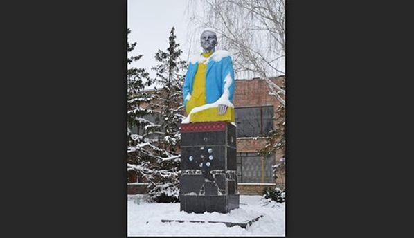 Монументу Ленина наКиевщине выдумали практическое применение