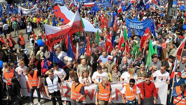 Марш свободы: вВаршаве проходит антиправительственный митинг