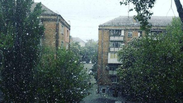 Травневий сніг у Києві