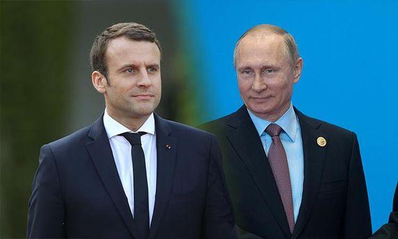 Президент Росії Володимир Путін вперше провів телефонну розмову з президентом Франції Еммануелем Макроном
