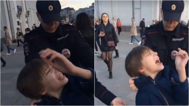 """Руssишзольдатен и полицай-самка избили и увезли 9-летнего хлопца за чтение вслух """"Гамлета"""" Шекспира"""