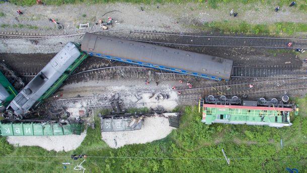 Що могло стати причиною залізничної аварії на Хмельниччині: поліція озвучила версію