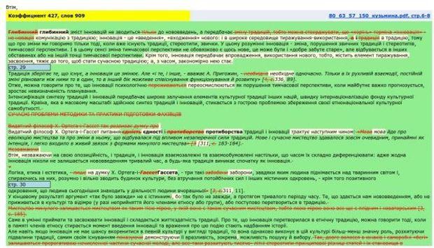 Диссертация жены Кириленко является плагиатом Документы  Пример сравнения докторской диссертации К М Кириленко с работой А И Викарчук