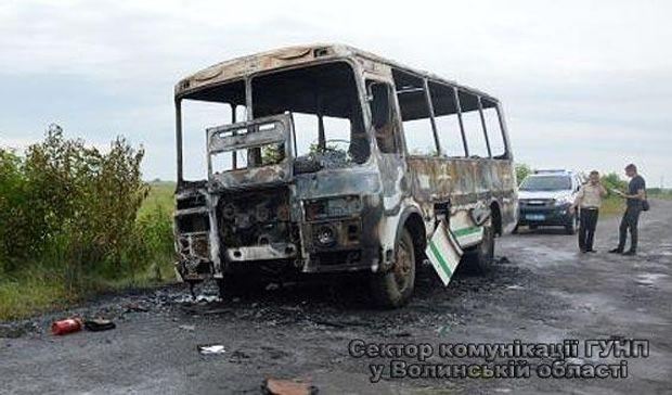 Автобус, Волинь, загоряння