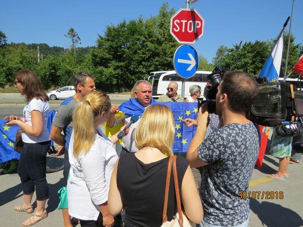 Путін, Словенія, протест
