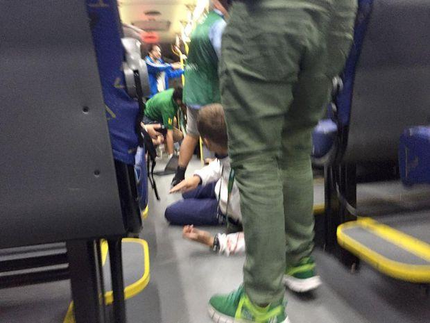 Журналісти, автобус, ріо