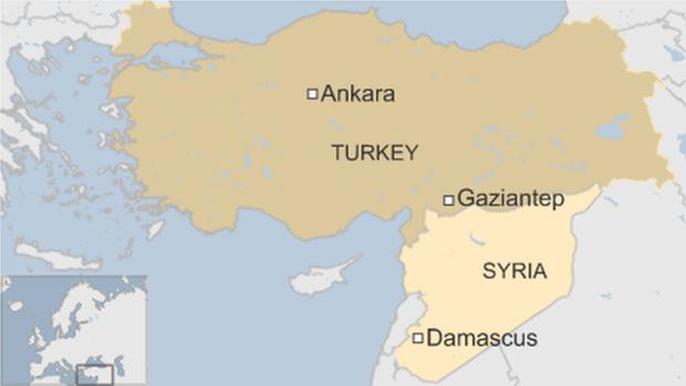 Газіантеп, Туреччина, Сирія
