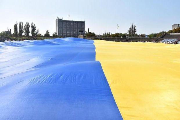 Херсон, флаг Украины, рекорд
