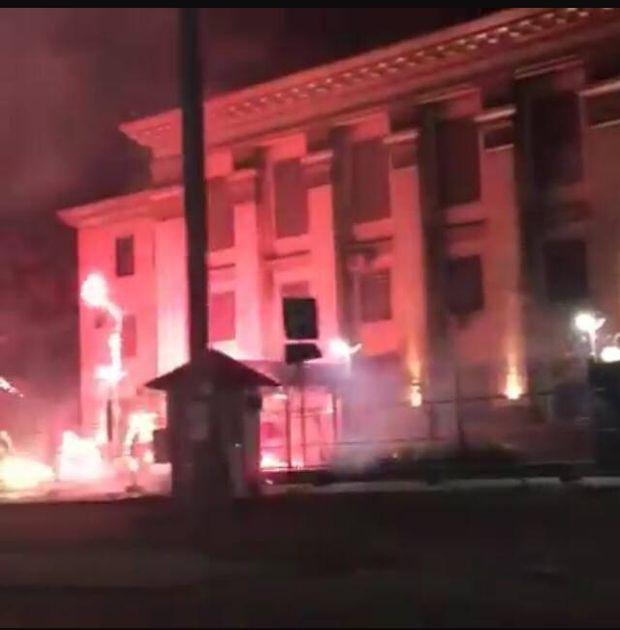 Феєрверки, Росія, посольство, Київ