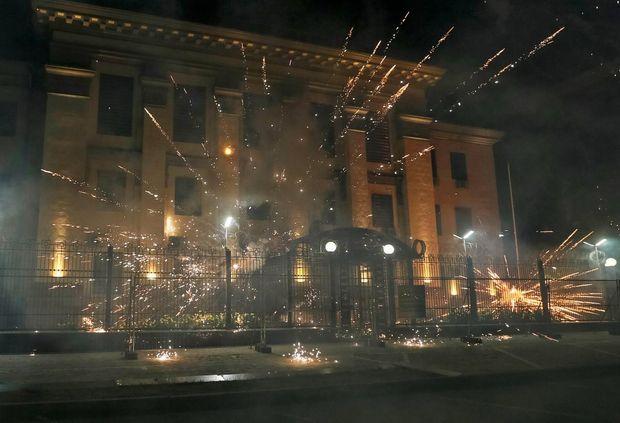 Протести, посольство, Київ